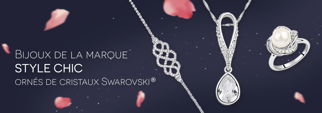 Bijoux de la marque STYLE CHIC ornés de cristaux Swarovski ... ad7ef7bcdfba