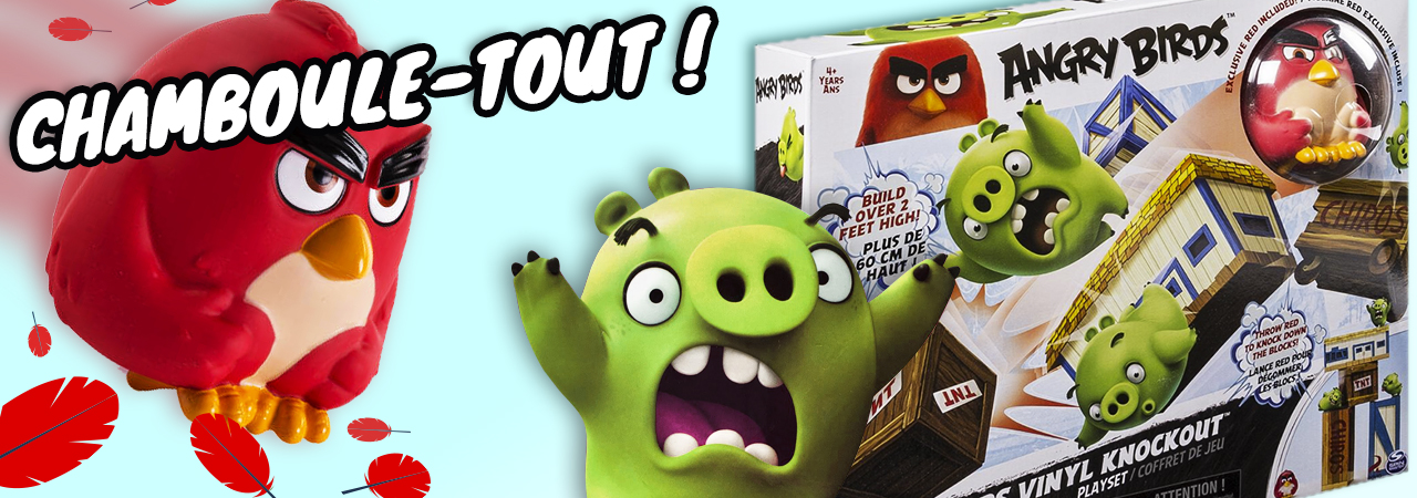 chamboule-tout géant Angry Birds