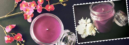 bougies parfumées en cire naturelle de soja