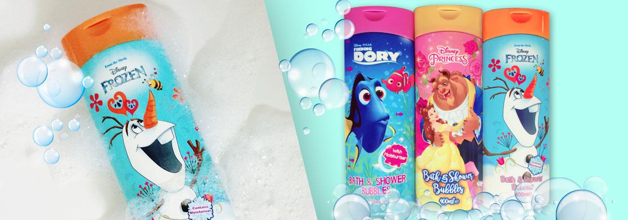 gels douche et bain avec licences Disney