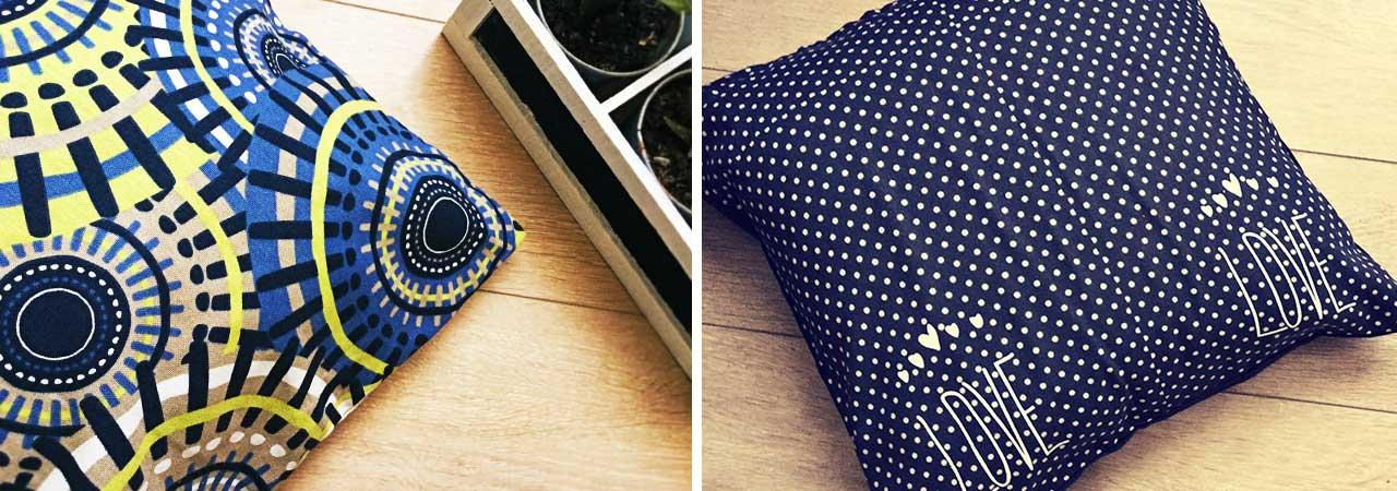 housses de coussin d coratives une ribambelle de motifs nozarrivages. Black Bedroom Furniture Sets. Home Design Ideas