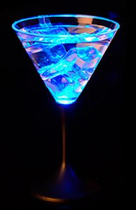 verre à cocktail à led