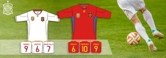vêtements de foot équipe Espagne 2011