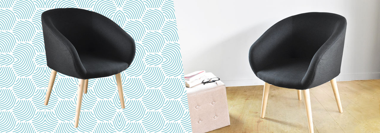 fauteuils au design scandinave