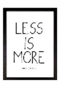 image encadrée less is more