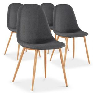 4 chaises baquet gris anthracite