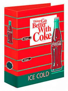 classeur Coca-Cola ice cold