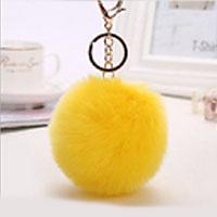 porte-clés pompon jaune