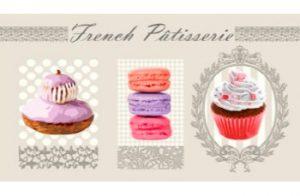 tapis de cuisine French Pâtisserie