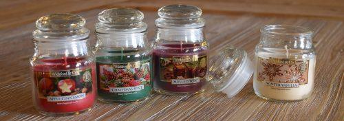 bougies parfumées en jarre