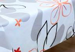 nappe PVC motifs fleurs