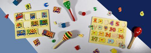 maracas et puzzles à encastrements