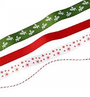 rubans motifs Noël