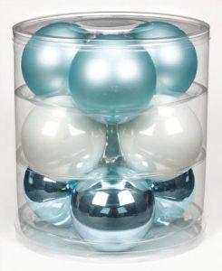 boules de Noël bleues