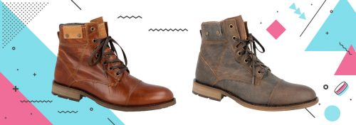 bottines homme en cuir