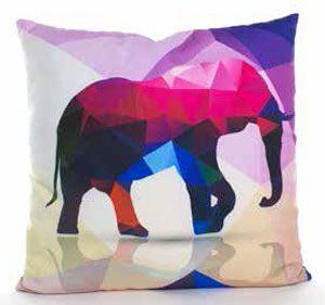 coussin éléphant couleurs