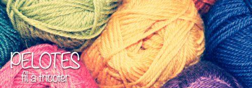 pelotes de coton à tricoter