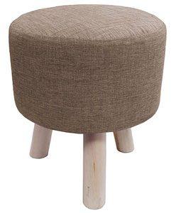 poufs en tissu et pieds en bois coup de coeur nozarrivages. Black Bedroom Furniture Sets. Home Design Ideas