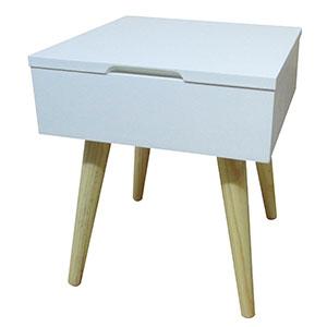 table de chevet blanc craie