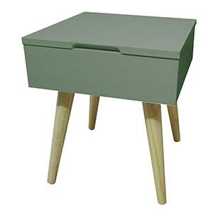 table de chevet vert de gris
