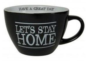 tasse noire let's stay home