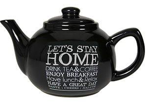 théière noire let's stay home