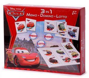 memo loto domino 3 en 1 Cars