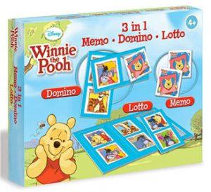 memo loto domino 3 en 1 Winnie the Pooh