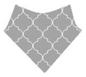bavoir bandana gris tendance
