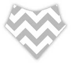 bavoir bandana chevrons gris