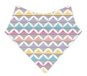 bavoir bandana multicolore