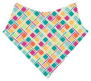 bavoir bandana petits carrés