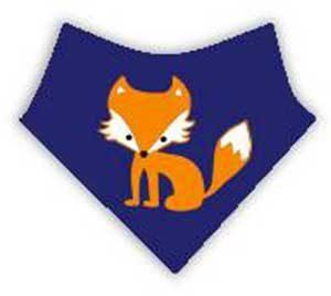 bavoir bandana renard roux