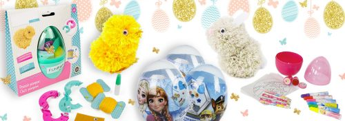 oeufs créatifs et kits pompons spécial Pâques