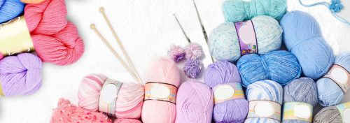 pelotes de fil à tricoter acrylique ou mélange mohair