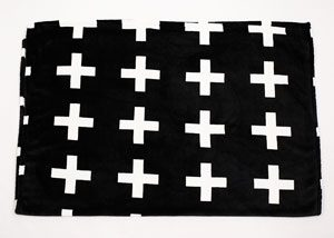 plaid polyester croix blanches