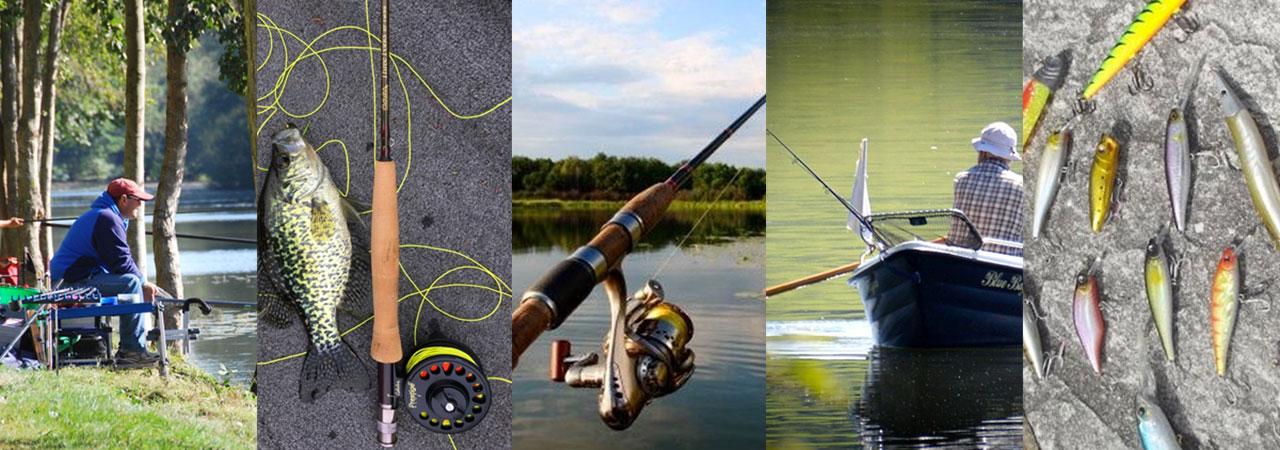 articles de pêche de différentes marques