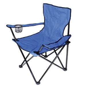 chaise de camping bleue