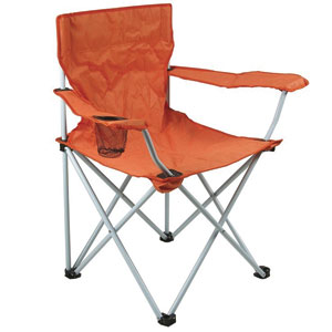 Chaise Camping Orange Vintage Color Nozarrivages