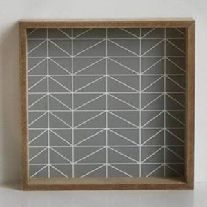 plateau en bois gris