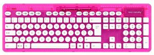 clavier sans fil rose