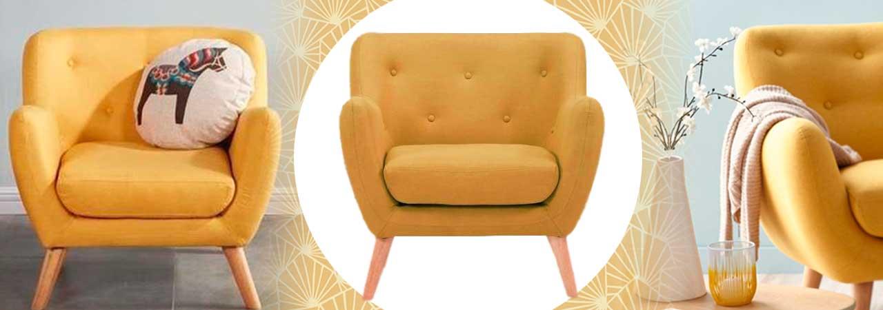 fauteuils scandinaves jaunes