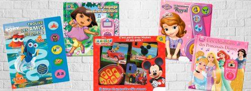 livres et livres sonores Dora, Princesses Disney