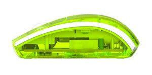 souris sans fil verte