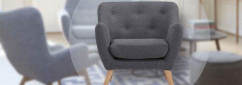 fauteuils scandinaves gris design et tendance
