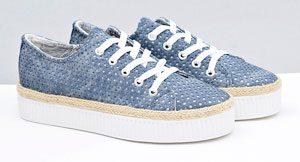 chaussure effet trou lacet