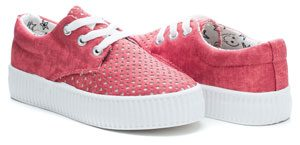 chaussure lacet rose