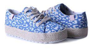 chaussure lacet toile imprime