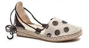 chaussure ouverte lacet marron