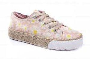 chaussure rose fleur